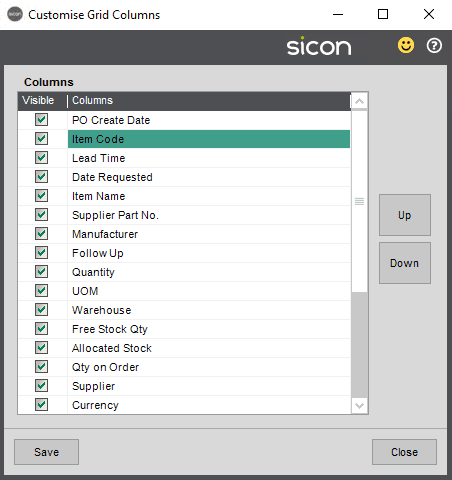Sicon MRP Help and User Guide - Pic3