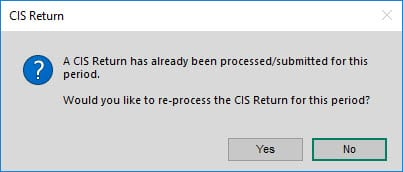 Sicon CIS Help and User Guide - CIS Return prompt
