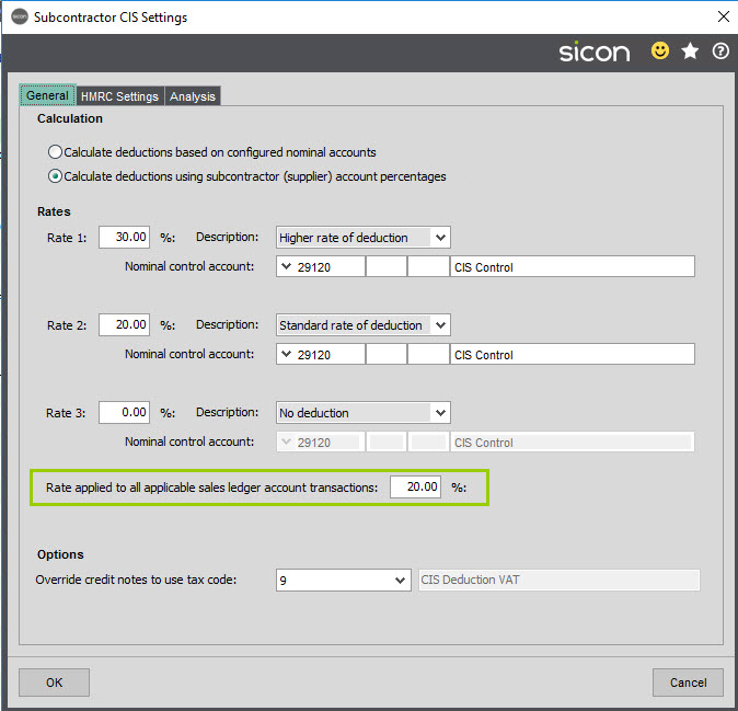 Sicon Construction Help and User Guide - Screen 1