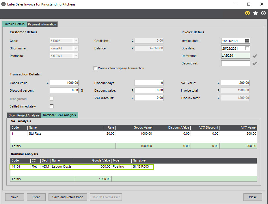 Sicon Construction Help and User Guide - Screen 8
