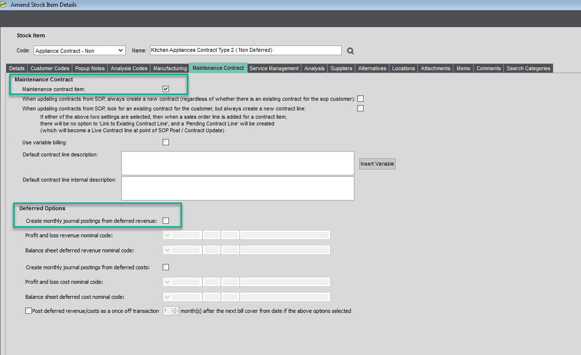 Sicon Contract Manager Help and User Guide - Deferred Options 2