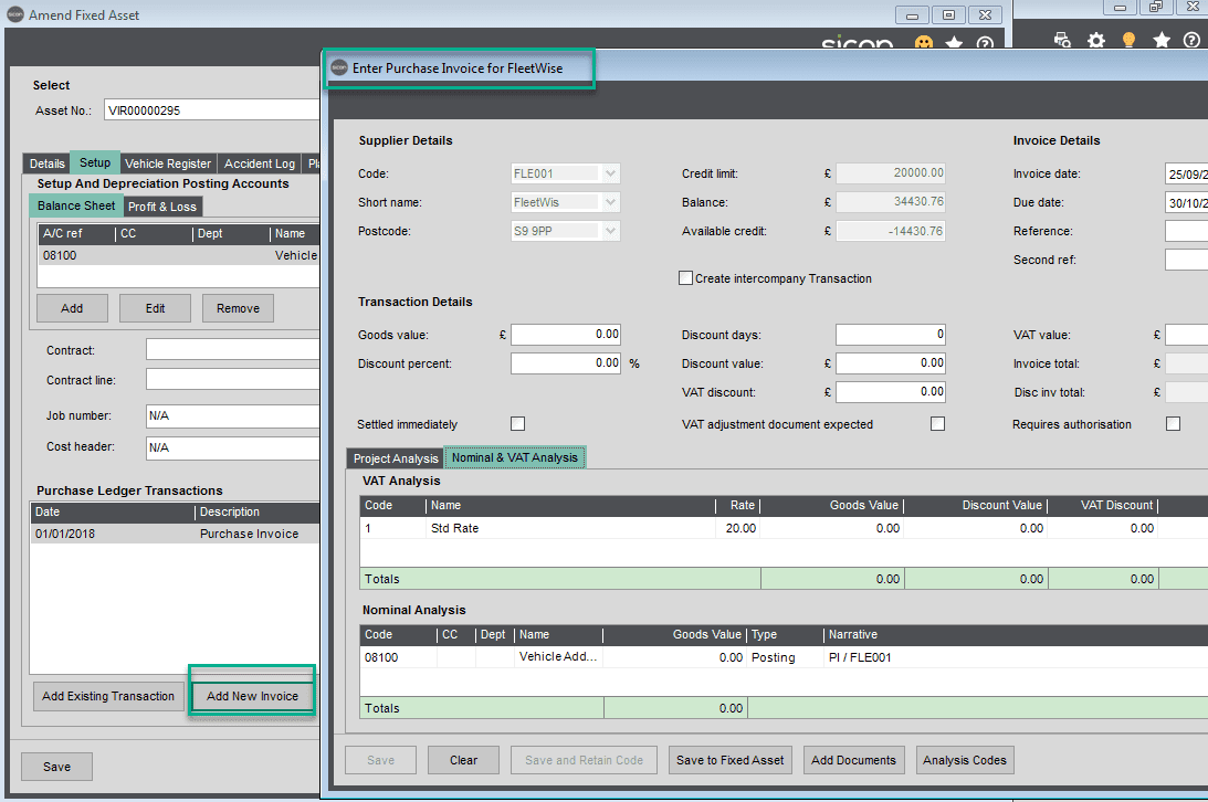 Sicon Fixed Assets Help and User Guide - Setup TAB3