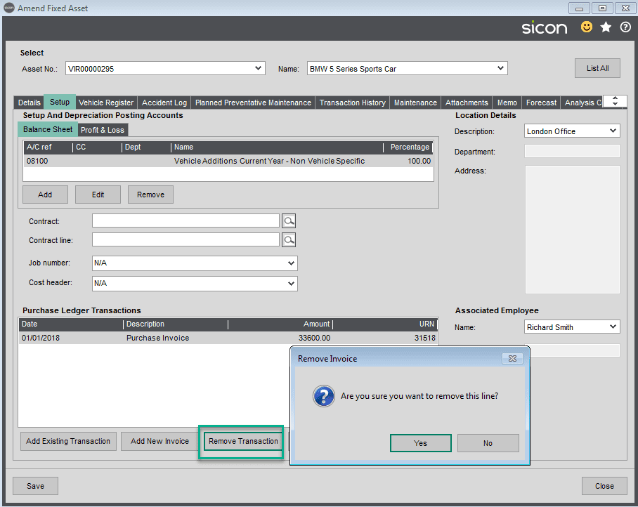 Sicon Fixed Assets Help and User Guide - Setup TAB4