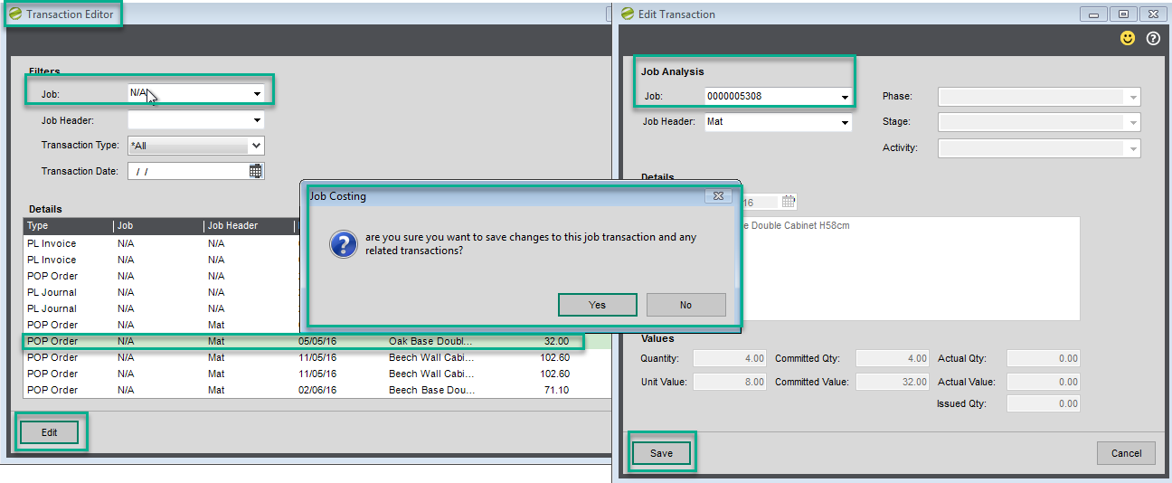 Sicon Job Costing Help and User Guide - Transaction Editor 2
