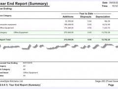 Sicon Fixed Assets Year End Summary Report