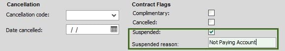 Sicon Contract Manager Help and User Guide suspended flag if enabled free text box