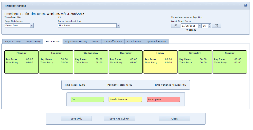4.3 Entry Status 1