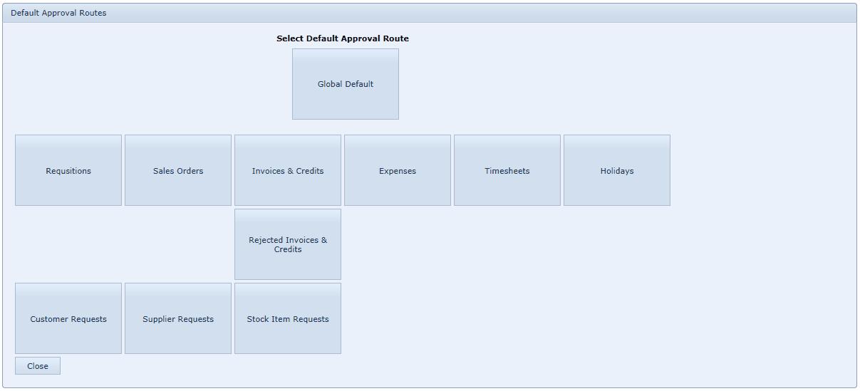 Edit Default Approval Route