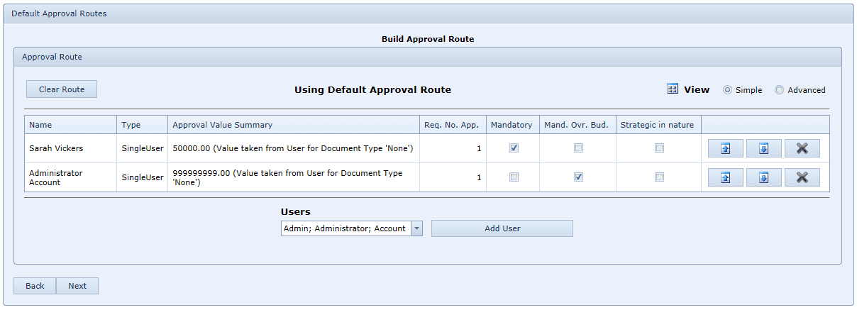 Build Approval Route