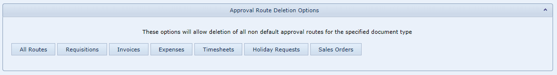 Delete Approval Route