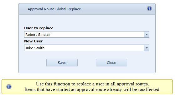Approval Route Wizard
