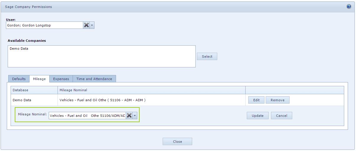 Purchase Ledger Account Links to User Setup