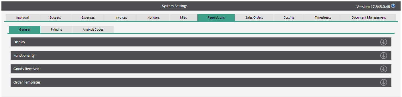 WAP Help and User Guide – System Settings v17 | Sicon Ltd