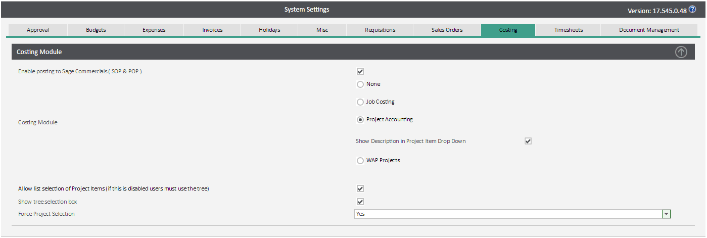 Sicon WAP System Settings Help and User Guide = project accounting