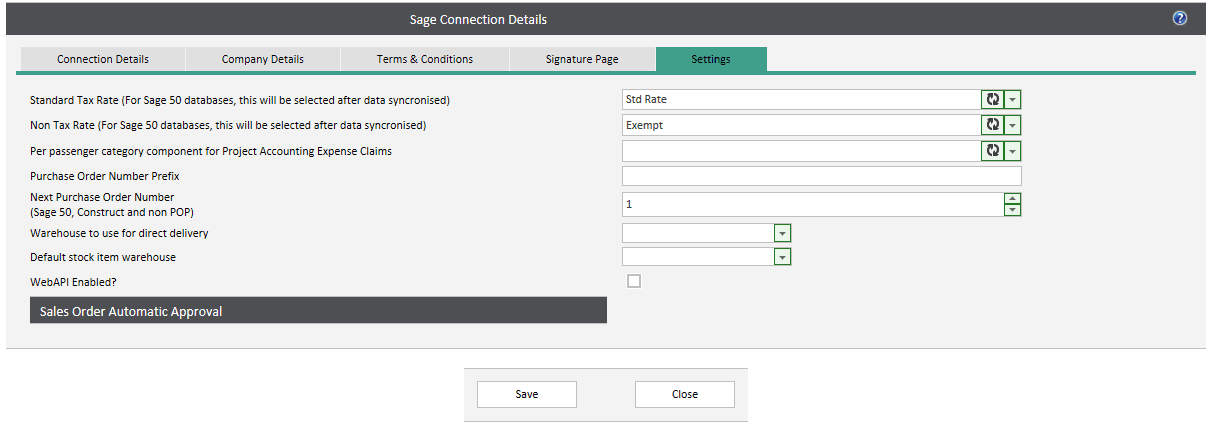 WAP Install - Linking a Sage Database to WAP 2