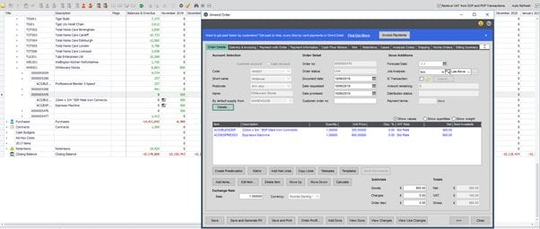 Sicon Cash Flow Help and User Guide - Remove VAT from SOP and POP transactions in the forecast