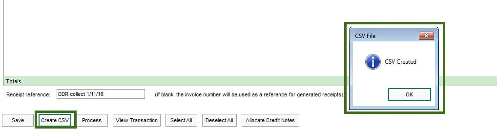 Sicon Direct Debit Help and User Giode - ave-as-csv-confirmed