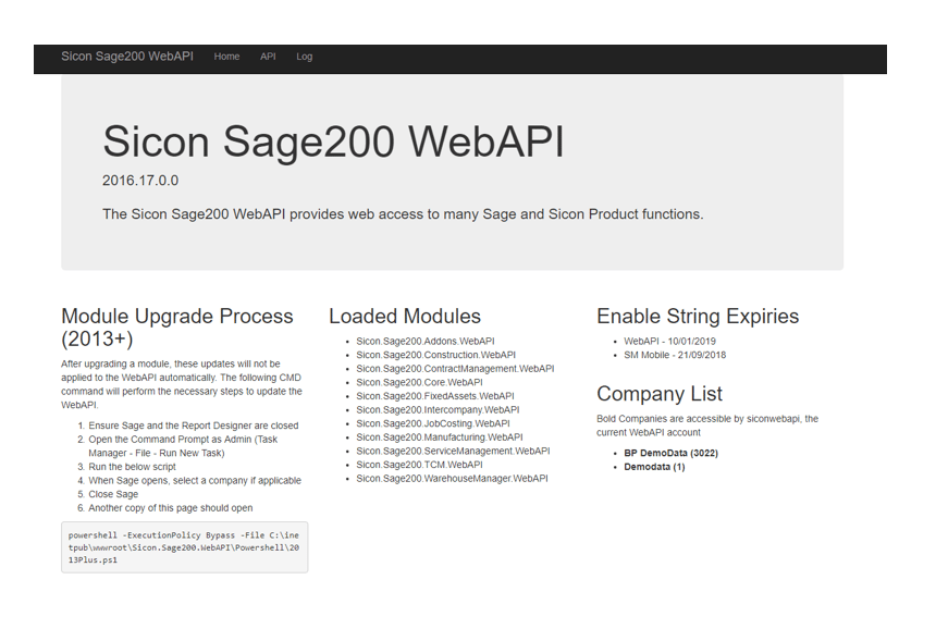 Sicon Barcoding & Warehousing Help and User Guide - Sicon Sage 2900 WebAPI
