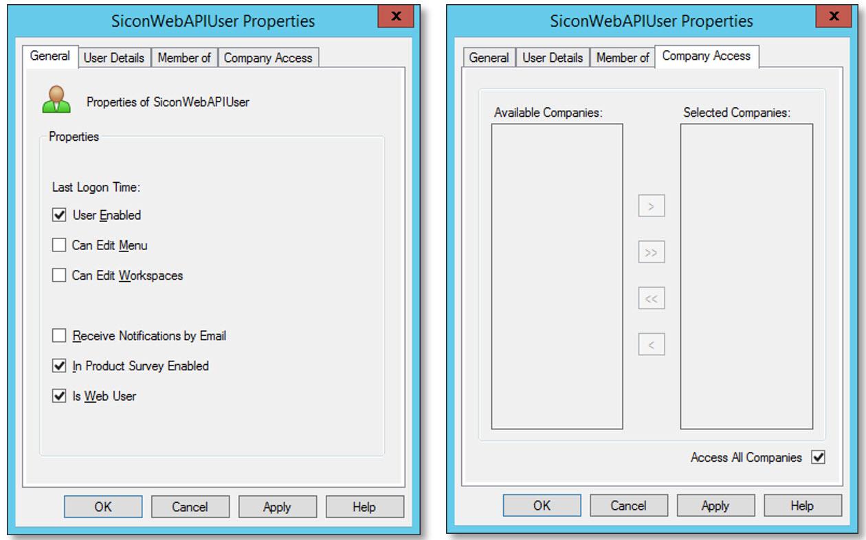 Sicon Sage200 WEB API - User Properties