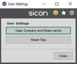 Sicon Documents Help and User Guide - 4.12 User Settings