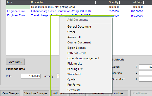 Sicon Documents Help and User Guide - Settings Tab Order