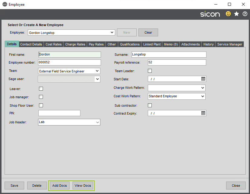 Sicon Documents Help and User Guide