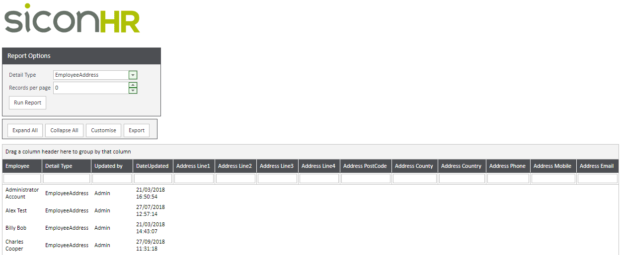 WAP Help and User Guide HR Module | Sicon Ltd