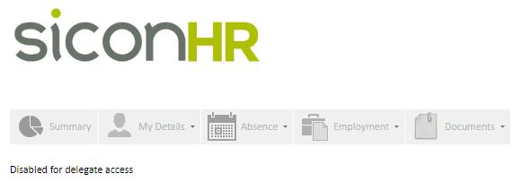 Sicon WAP Help and User Guide HR Module - Users Profile Screen