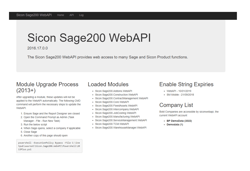 Sicon Barcoding & Warehousing Help and User Guide - Sicon Sage 200 Web API