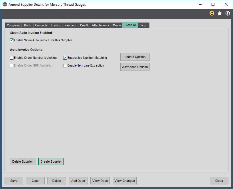 Sicon Documents Auto Invoice -Update Supplier 2