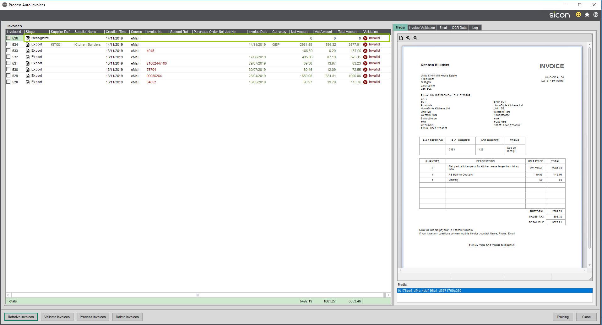 Sicon Documents Auto Invoice -Update Supplier 3