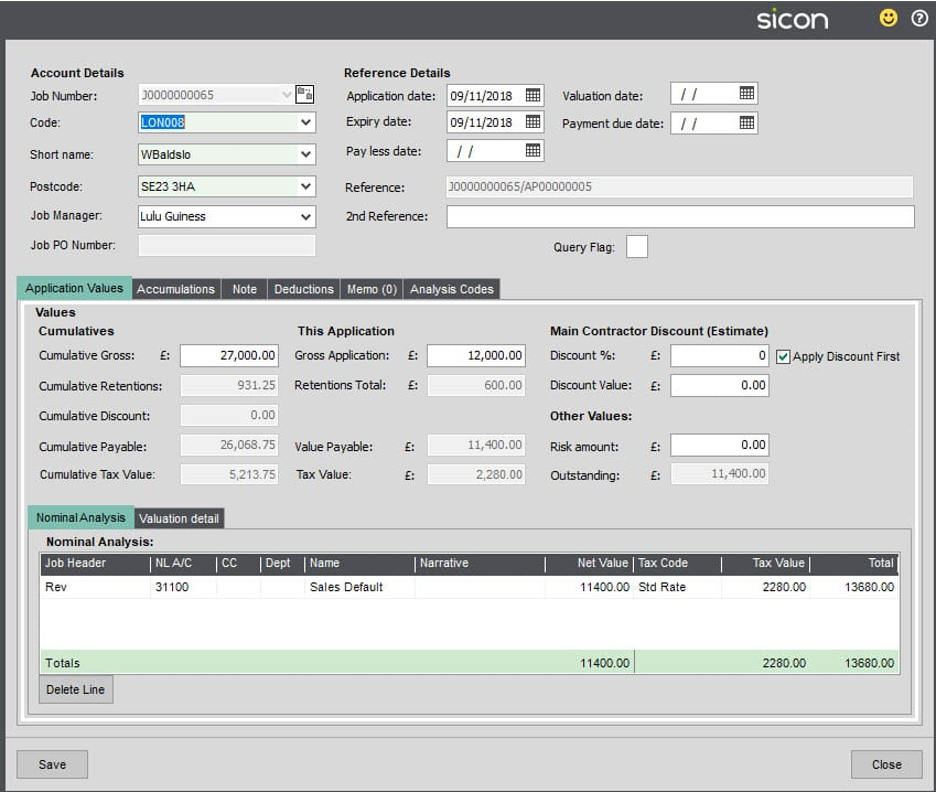 Sicon Construction Help and User Guide - SS19