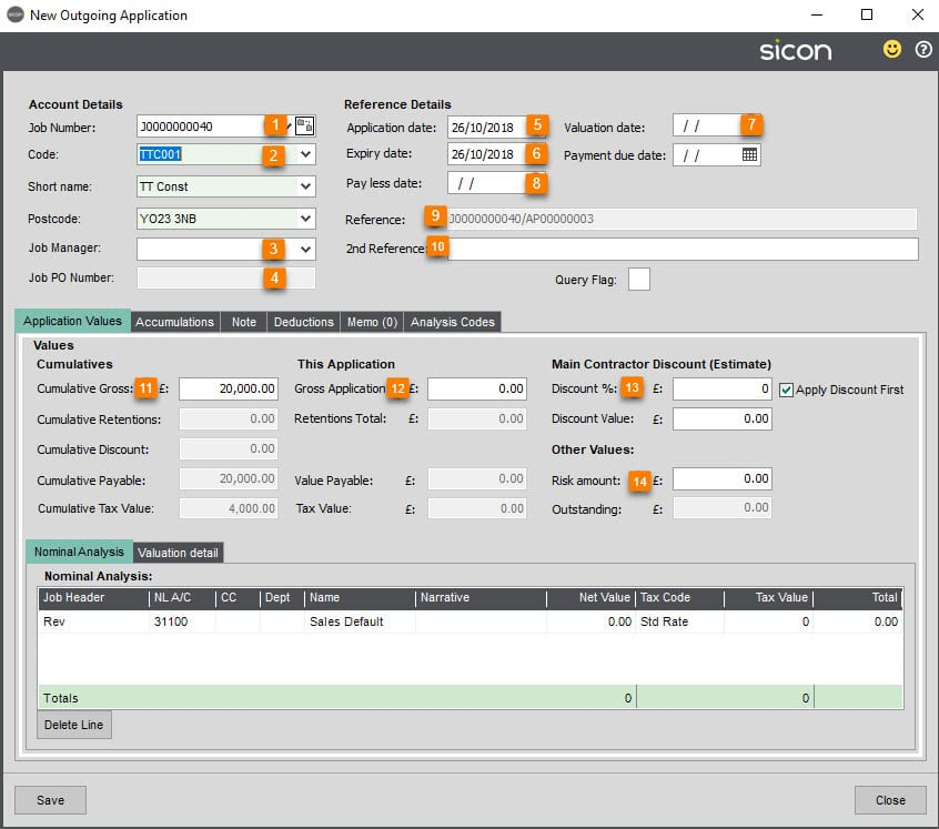 Sicon Construction Help and User Guide - New Application