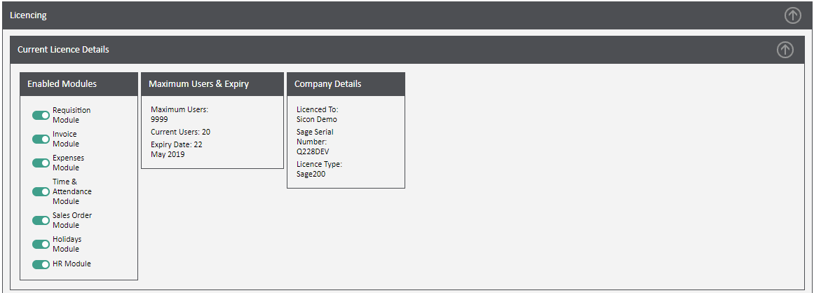 Sicon WAP Help and User Guide Requisitions Module - LIcencing