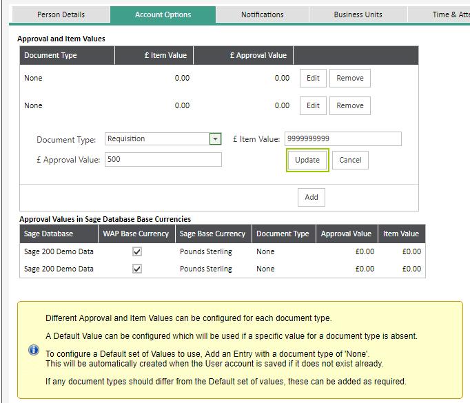 WAP Help and User Guide User Setup   Sicon Ltd