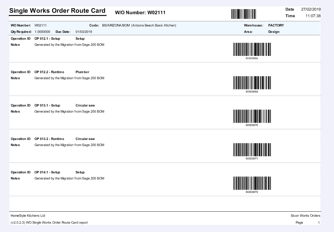 26. Shop Floor Data Capture Help and User Guide -single works order route card