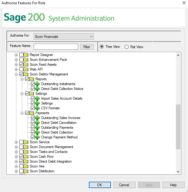 Sicon Debtor Management Help and User Guide - Sage 200 System Administration