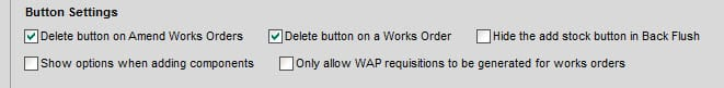Sicon WOP Help and User Guide - 11.1 Button Settings