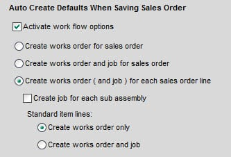 Sicon WOP Help and User Guide - 11.5 Auto Create Defaults When Saving Sales Order