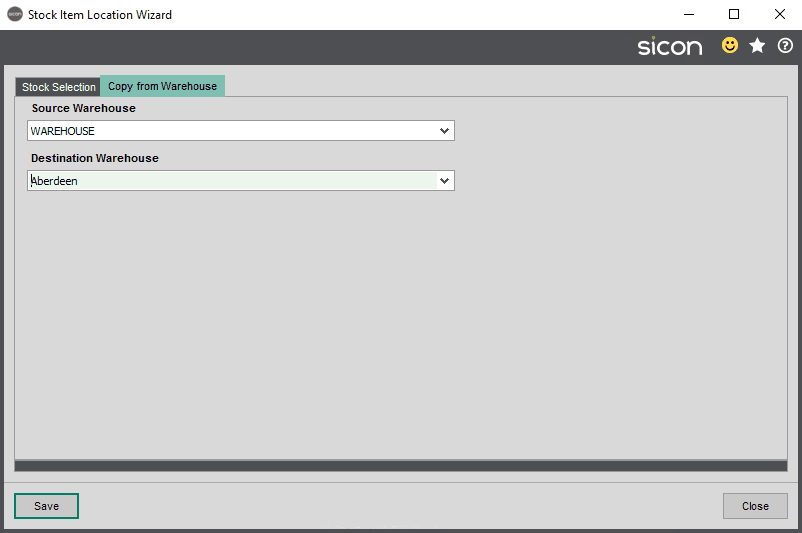 Sicon Distribution Help and User Guide - Stock Item Location Wizard