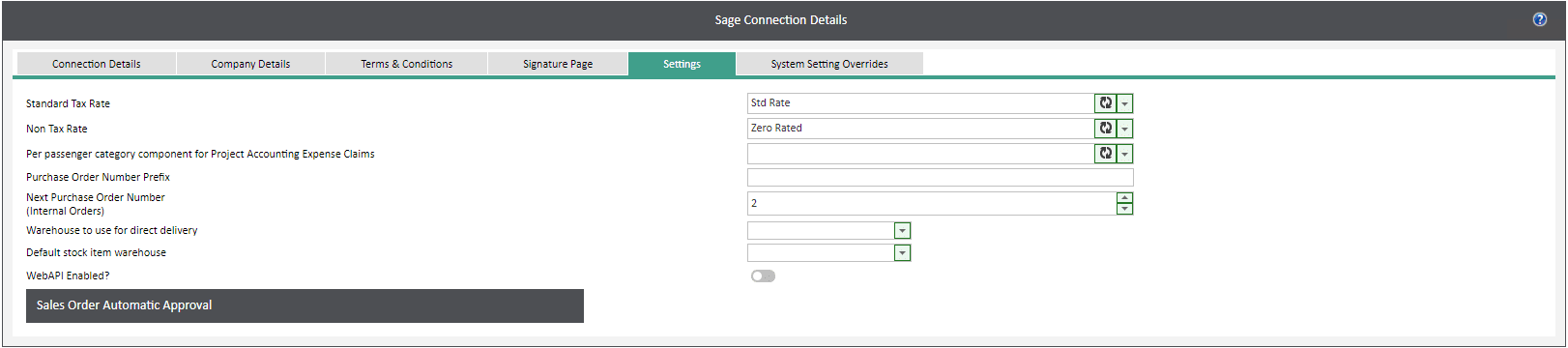 Sicon WAP System Settings Help and User Guide - WAP System HUG Section 28.5 Image 1