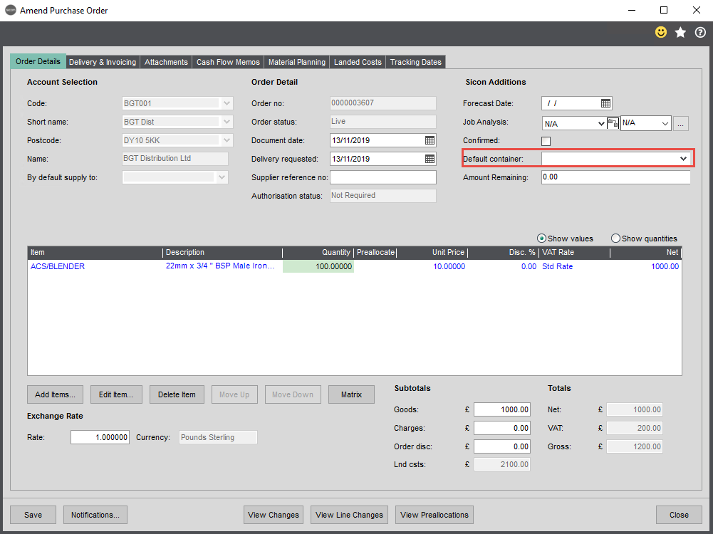 Sicon Distribution Help and User Guide - 1.7.1