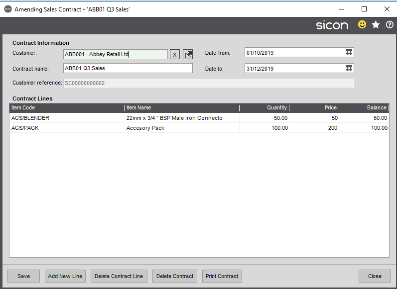 Sicon Distribution Help and User Guide - 3.2.2