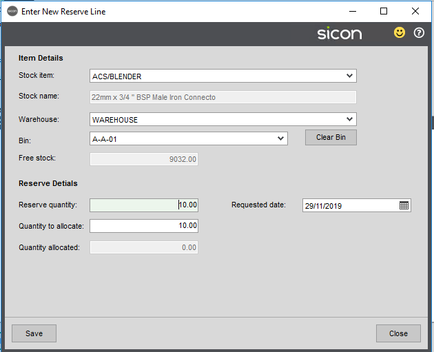 Sicon Distribution Help and User Guide - 5.12.2