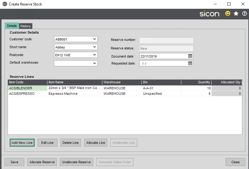 Sicon Distribution Help and User Guide - 5.12.3