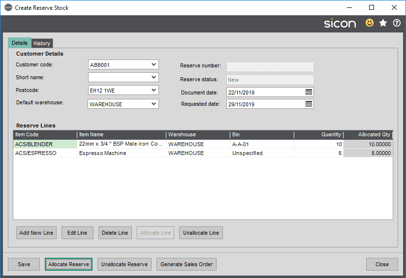 Sicon Distribution Help and User Guide - 5.12.5