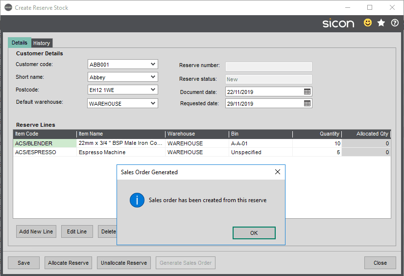 Sicon Distribution Help and User Guide - 5.12.6