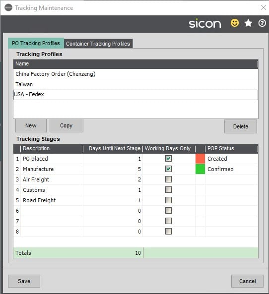 Sicon Distribution Help and User Guide - Distribution HUG Section 8.4 Image 1