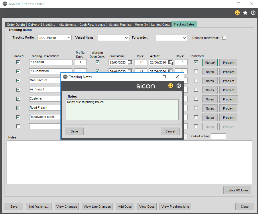 Sicon Distribution Help and User Guide - Image 1.7.6