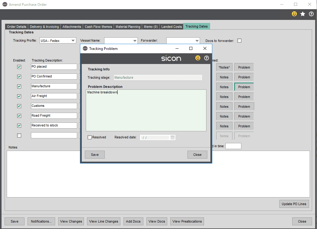 Sicon Distribution Help and User Guide - Image 1.7.7